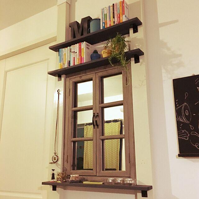 小説,DIY,ファニチャードーム,多肉植物,Overview,ディアウォール,窓っぽい鏡,雑貨 hiroの部屋