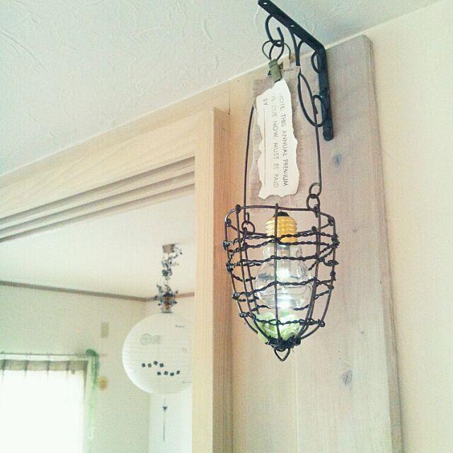 セリアリメイク,セリアの電球型瓶,オレガノドライ,なんちゃってライト m.hinaの部屋