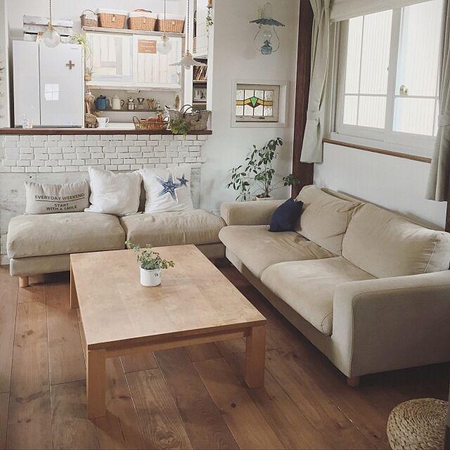 Lounge,ソファ,模様替え,無印良品のソファ,オットマン,tomotomo.1026です,インスタグラムはじめました( *´艸`) tomoの部屋