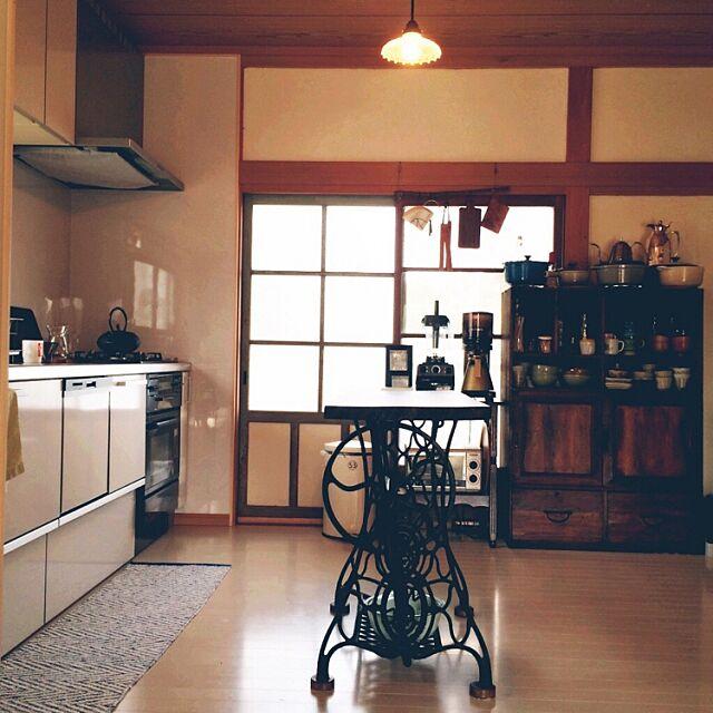 Kitchen,リノベーション,リフォーム,昭和レトロ,カフェ風インテリア,日本家屋,昔ながらの間取り,株式会社イシカワ,古道具,古い建具 --ao--の部屋