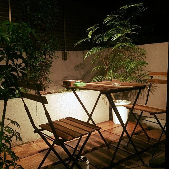 Overview,リゾート風,リゾート,ベランダカフェ,ベランダ,ガーデン,RC愛知,RC名古屋,IKEA Ogawaの部屋