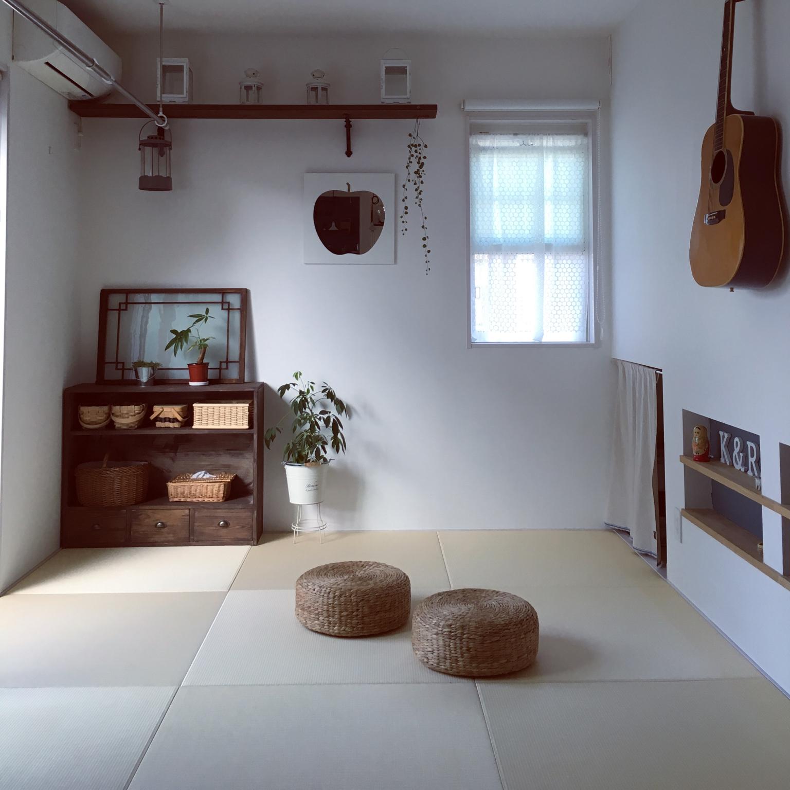 女性で、Other、家族住まいのいいね&フォローありがとうございます♡/琉球畳/みせる収納/自然塗料/ティッシュカバー…などについてのインテリア実例を紹介。