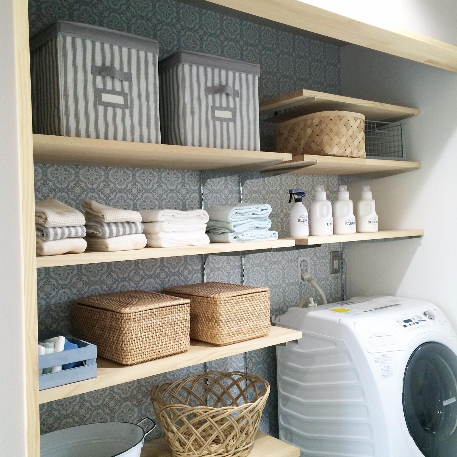 洗面所・脱衣所の収納を使いやすく!スッキリ収納アイデア