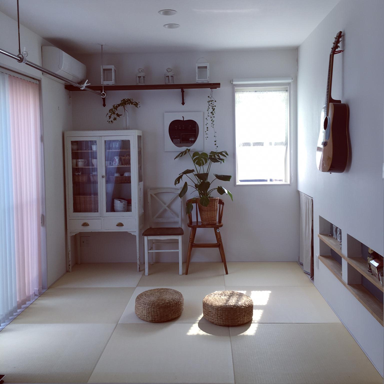 女性で、Other、家族住まいのいいね&フォローありがとうございます♡/模様替え/和室/洋室から和室へ戻しました/琉球畳…などについてのインテリア実例を紹介。
