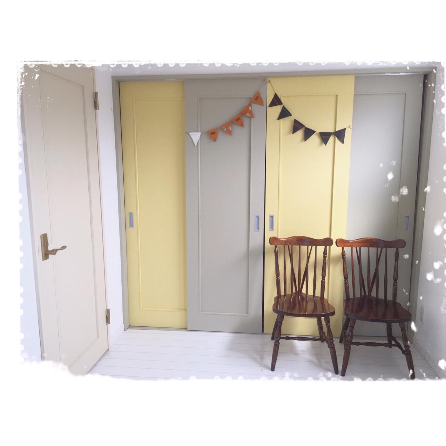 女性で、4LDK、家族住まいのターナーミルクペイント/扉ペイント/田舎のアメリカンカントリーをイメージに/遊び部屋予定…などについてのインテリア実例を紹介。