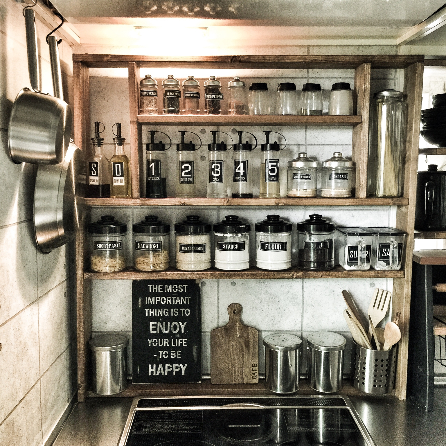 キッチン 見せる収納 調味料