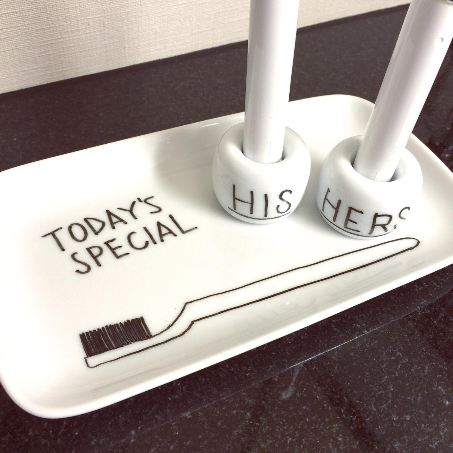 みんな持っている!無印良品の磁器歯ブラシスタンド