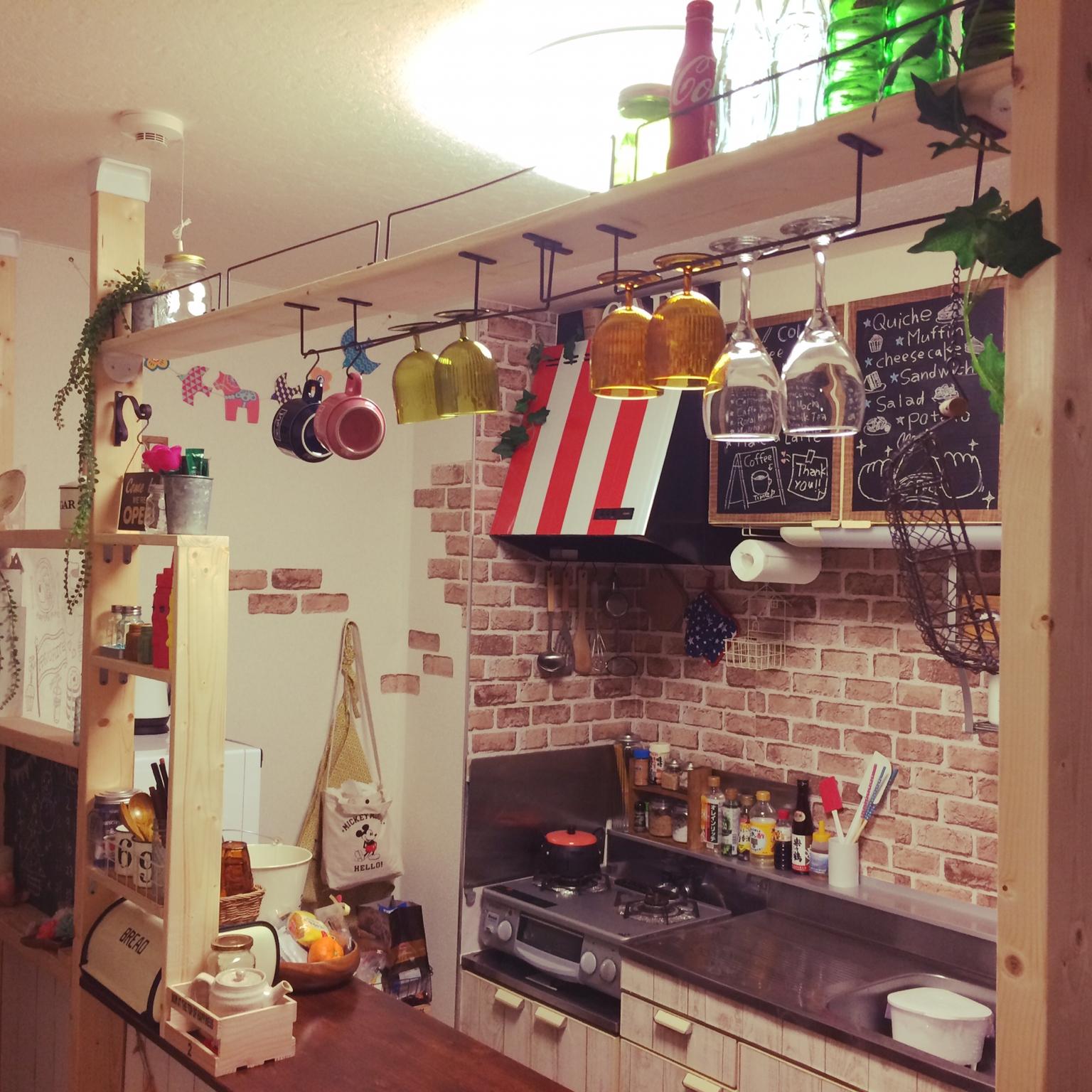 賃貸のキッチンをDIYで、自分好みにカスタマイズしよう! | RoomClip mag | 暮らしとインテリアのwebマガジン