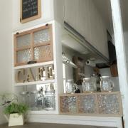 キッチンのカフェ度アップ!Yukoさんのなんちゃってガラスブロック