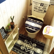 しまむら&ニトリのトイレカバーでトイレ空間を楽しもう