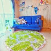 ラウンドビーチタオルが素敵!インテリアとして使うお部屋、増えてます