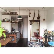 リビングとキッチンが柔らかく融合☆リノベーションで叶えた、海外風キッチン by kurobarさん