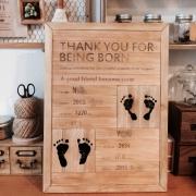 成長の記録をアートに残そう!yunoさん流、足形ウッドボードの作り方