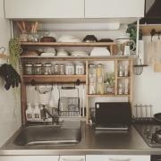 「テーマカラーでスッキリ統一!隠れ家cafe風の充実空間」憧れのキッチン vol.31 kaniさん