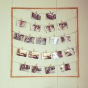 思い出の写真に囲まれていたい!DIYでオリジナルディスプレイ