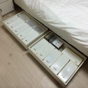 デッドスペースを有効利用♪ベッド下の活用アイディア