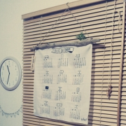 お洒落なカレンダーの飾り方実例♪