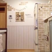 白壁イメチェン大作戦♡カッティングシートで作る腰壁風DIY by pink-mapleさん
