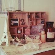 セリアのパーテーショントレイで、カフェ風雑貨を作ろう