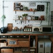 DIYのキッチンカウンターで自分だけの城に♡