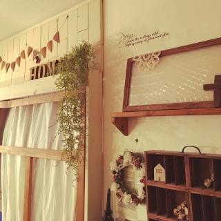 女性の、2LDK、家族住まいの「壁/天井」についてのインテリア実例