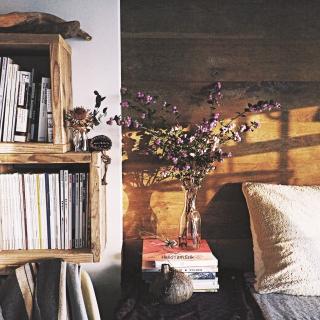 女性の、1R、家族住まいの「棚」についてのインテリア実例