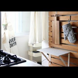 女性の、1DK、一人暮らしの「キッチン」についてのインテリア実例