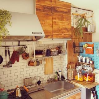 女性の、1K、一人暮らしの「キッチン」についてのインテリア実例