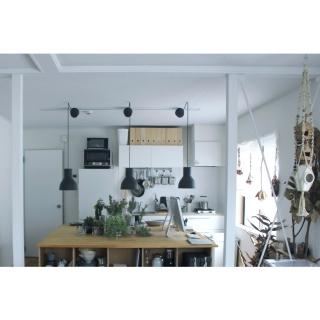 男性の、1LDK、家族住まいの「机」についてのインテリア実例