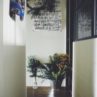 女性の、1R、家族住まいの「壁/天井」についてのインテリア実例