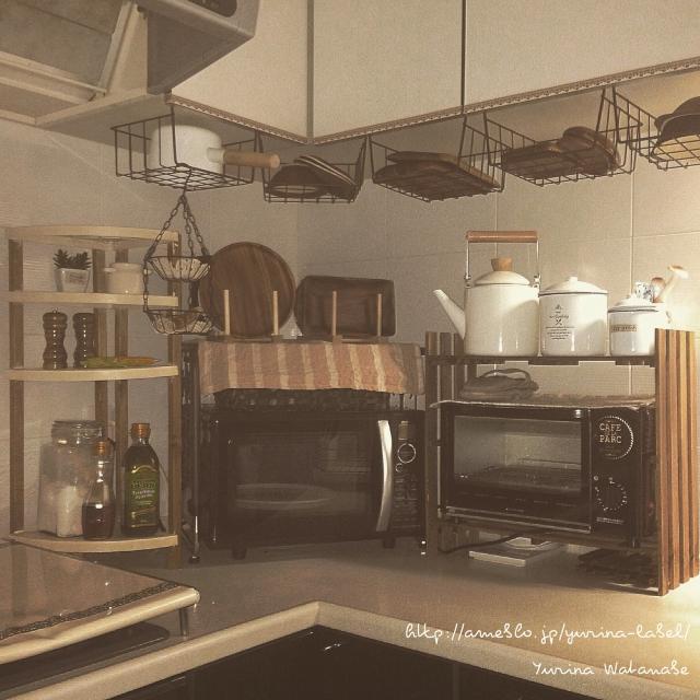今すぐ使える100均グッズでキッチンを理想の素敵空間に♡