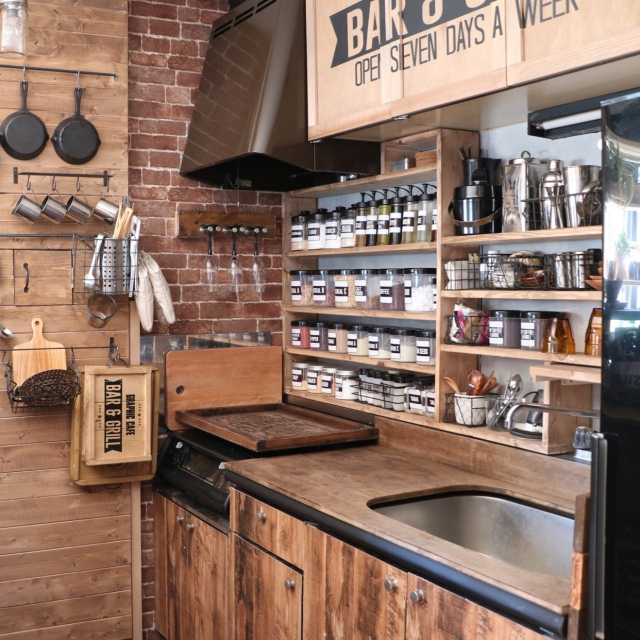 Kitchen,カフェ風,カフェ,インダストリアル,男前,アメブロやってます♪,Swaro109 vintage,BAR&GRILLのインテリア実例 | RoomClip (ルームクリップ)