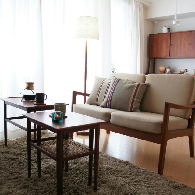 ため息のでる美しさ!ヴィンテージ家具で彩るリビング10選