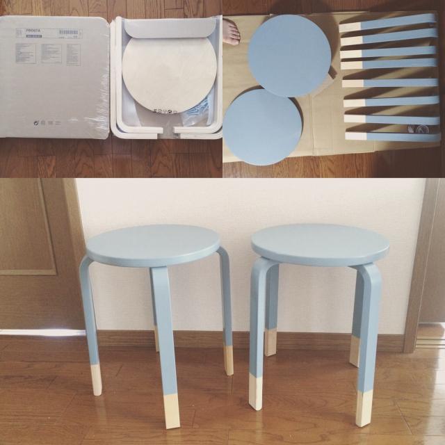 artek風!?IKEAとニトリの木製スツールを比較してみました