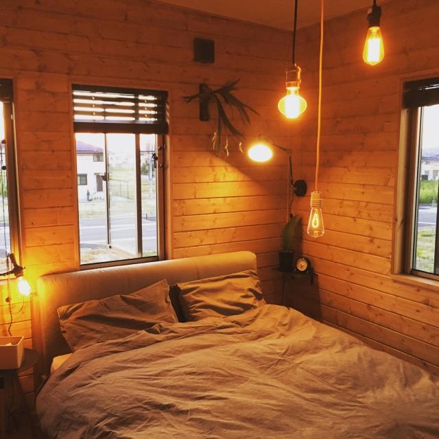 寝室は照明を工夫すればGood☆雰囲気抜群の空間アイデア