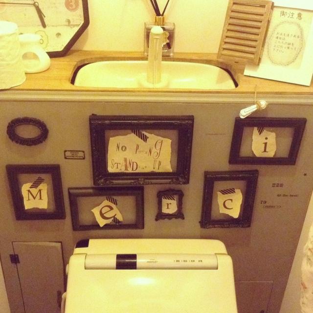 グレー トイレリメイクのインテリア実例