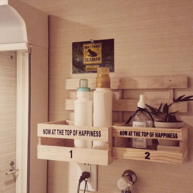 100円アイテムですっきり!ランドリースペース収納法10選 | RoomClip mag | 暮らしとインテリアのwebマガジン