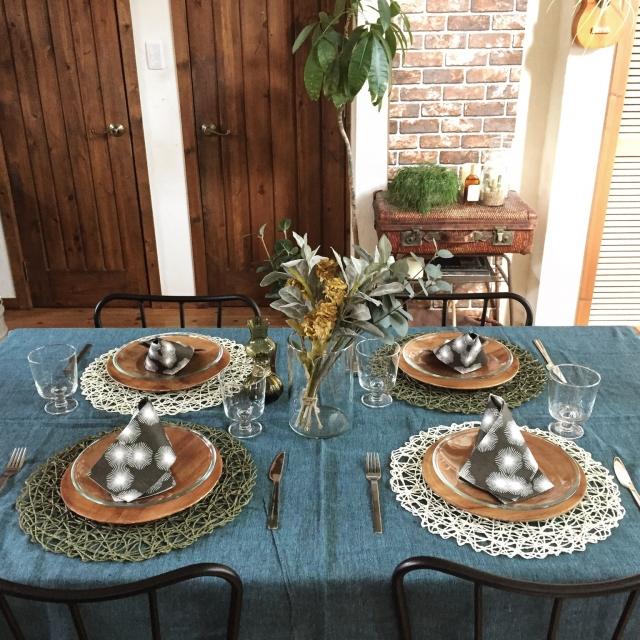 華やかな食卓♡100均アイテムでテーブルコーディネート