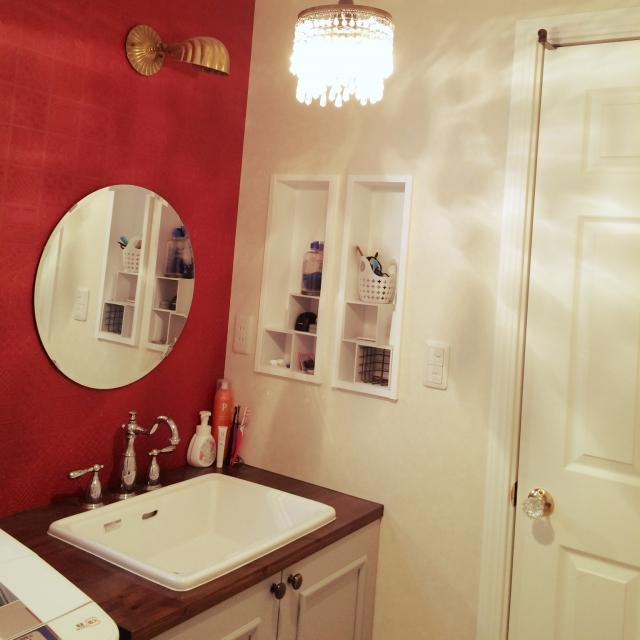 Bathroom,IKEA,洗面所,ローラアシュレイ,アフタヌーンティー,ナチュラルキッチン,コンテストに参加します♡のインテリア実例 | RoomClip (ルームクリップ)