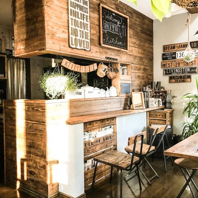 「DIYでつくる温もりと渋さが魅力。細部にまでこだわったcafe空間」憧れのキッチン vol.111 jamm10さん