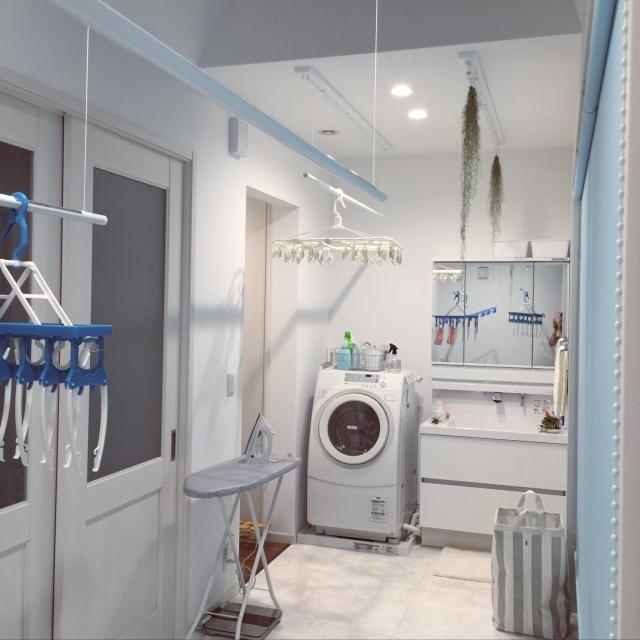 日々の洗濯を少しだけ楽にしてくれる!配置や動線の一工夫