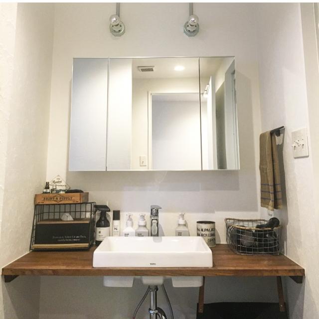 水回りはシンプルイズベスト!清潔感のある「洗面スペース」