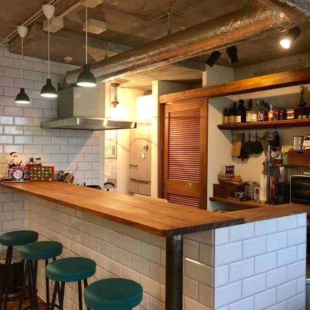 「安心感のあるブルックリンカフェスタイル。自然体が様になるエフォートレスシックな空間」憧れのキッチン vol.67 kan2さん