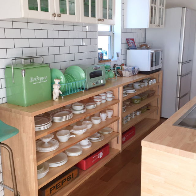 アメリカンな空間を作る!ファイヤーキングのあるキッチン