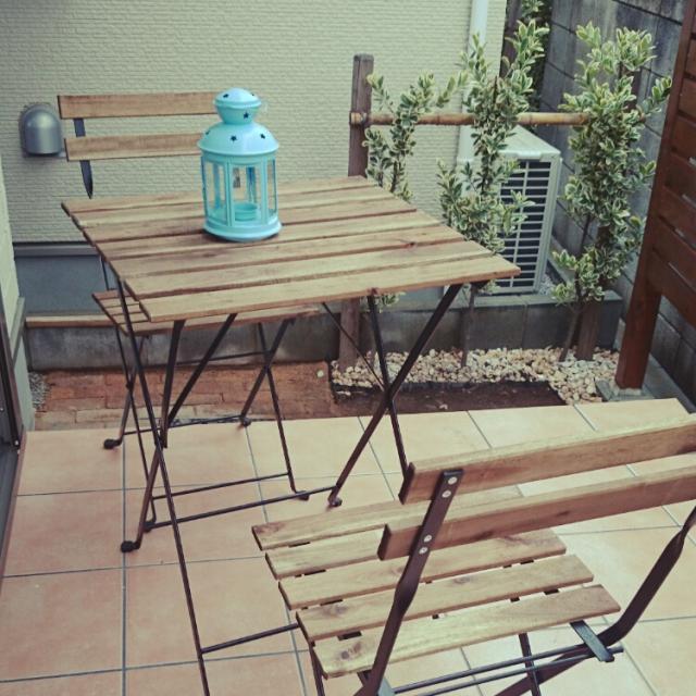 ベランダをセンスアップ!IKEAのTARNOテーブル&チェア実例