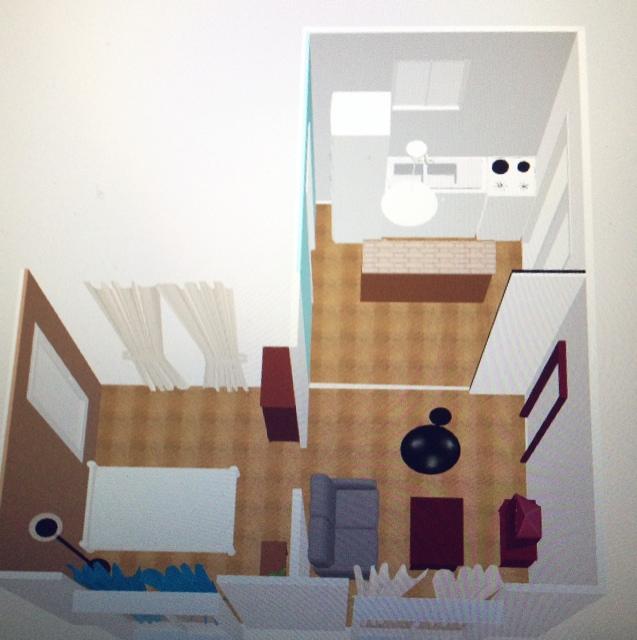 女性で、2DK、一人暮らしのマリメッコ/間取り図見るの大好き♡/DIY/男前/IKEA/収納…などについてのインテリア実例を紹介。