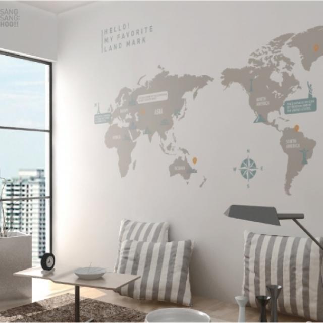 壁に華やかさを!ウォールステッカー・デコシートの魅力