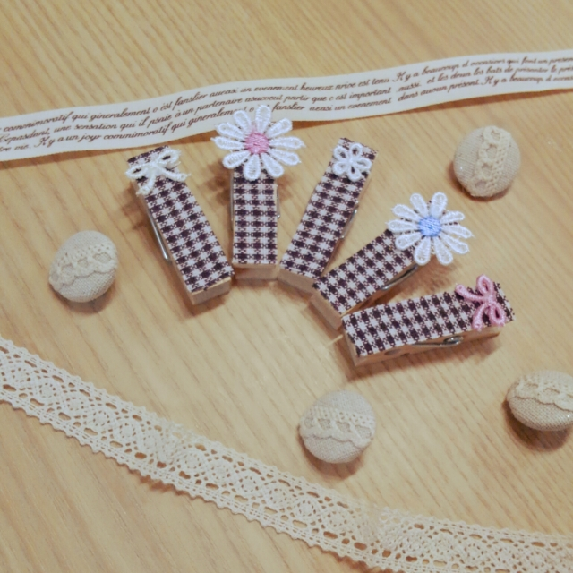 2STEPで簡単!cute♡な木製ピンチアレンジ法 by satotoさん [連載: 10分でできる100均リメイク]