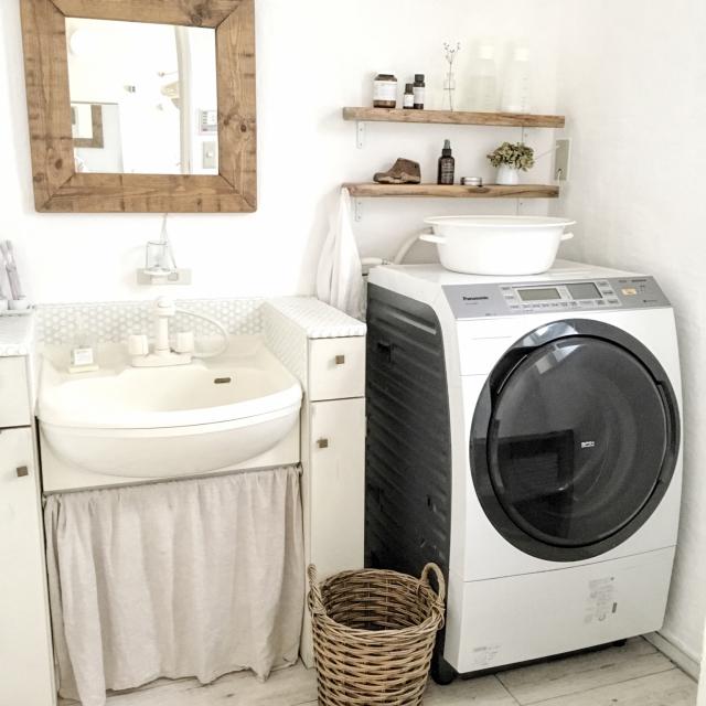 Bathroom,DIY,洗濯機,Panasonicのインテリア実例   RoomClip (ルームクリップ)