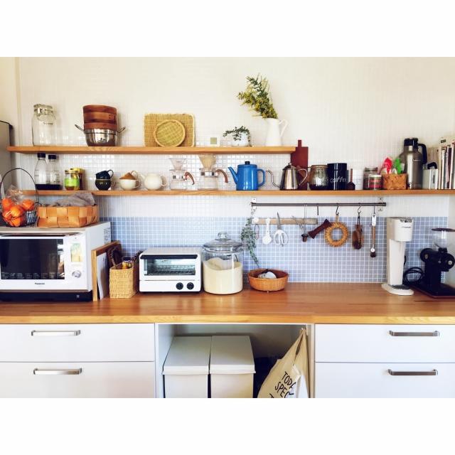 キッチンの背面棚も自分らしく☆収納&ディスプレイ実例集